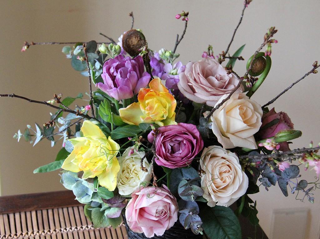 花のアトリエゆうゆ 春のアレンジメント