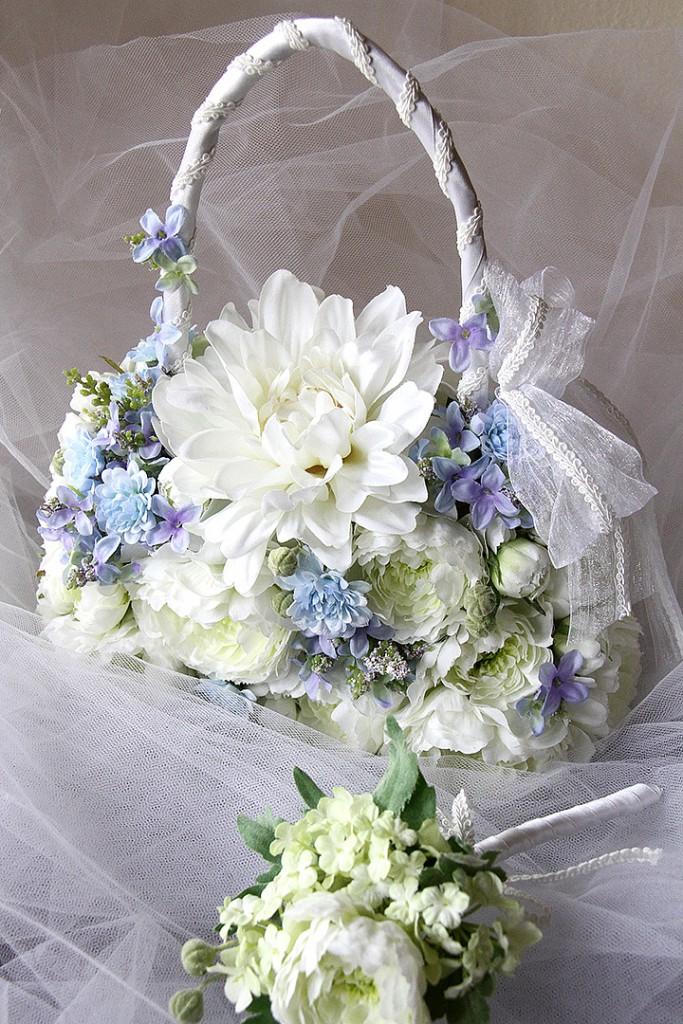 花のアトリエゆうゆ フラワーアレンジメント アーティフィシャルフラワーのバックブーケ