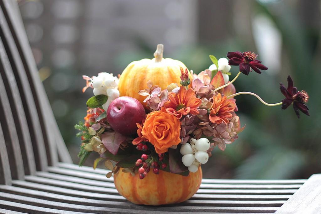 花のアトリエゆうゆ フラワーアレンジメント ハロウィーンのアレンジメント